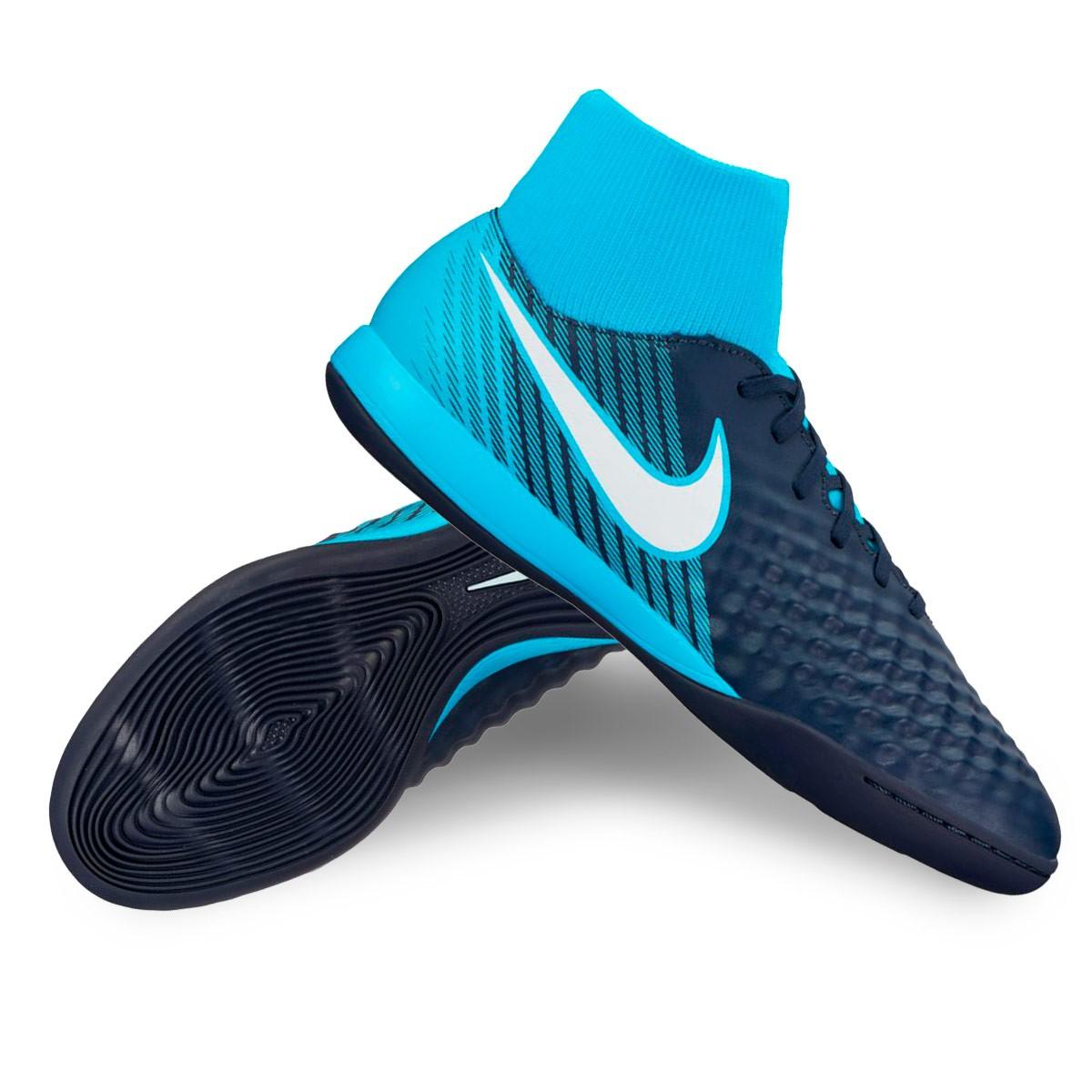 Sapatilha de Futsal Nike MagistaX Onda II DF IC Obsidian-White-Gamma ... a564421a9283b
