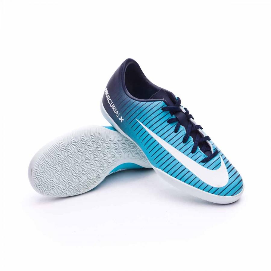 f26355e3b Futsal Boot Nike Jr MercurialX Vapor XI IC Obsidian-White-Gamma blue ...