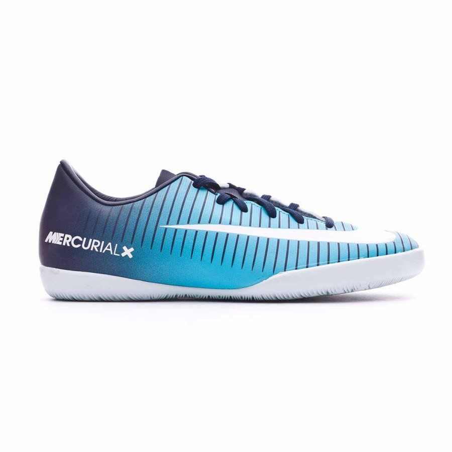 bbb3aa9a83526e Futsal Boot Nike Jr MercurialX Vapor XI IC Obsidian-White-Gamma blue -  Football store Fútbol Emotion
