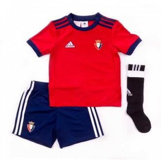 Conjunto  adidas Jr CA Osasuna 2017-2018 Vermelho-Azul