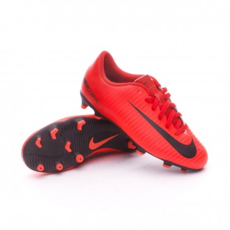 Chuteira  Nike Jr Mercurial Vortex III FG University red-Black-Bright crimson