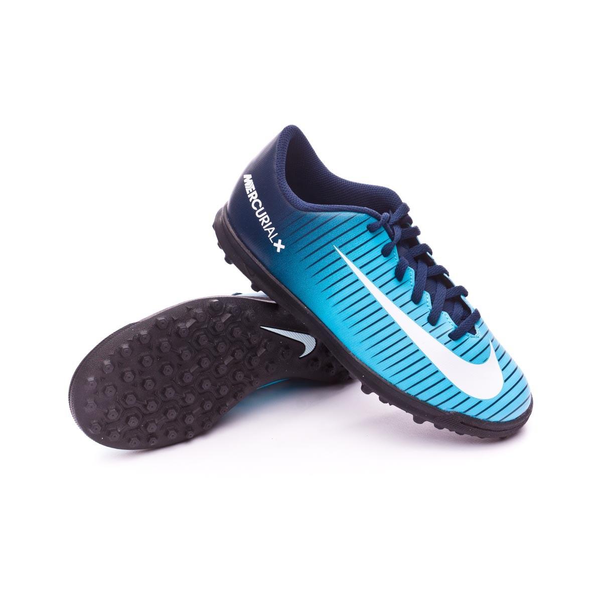 Football Boot Nike Jr Mercurial X Vortex III Turf Obsidian-White ... 05f743981d9ef