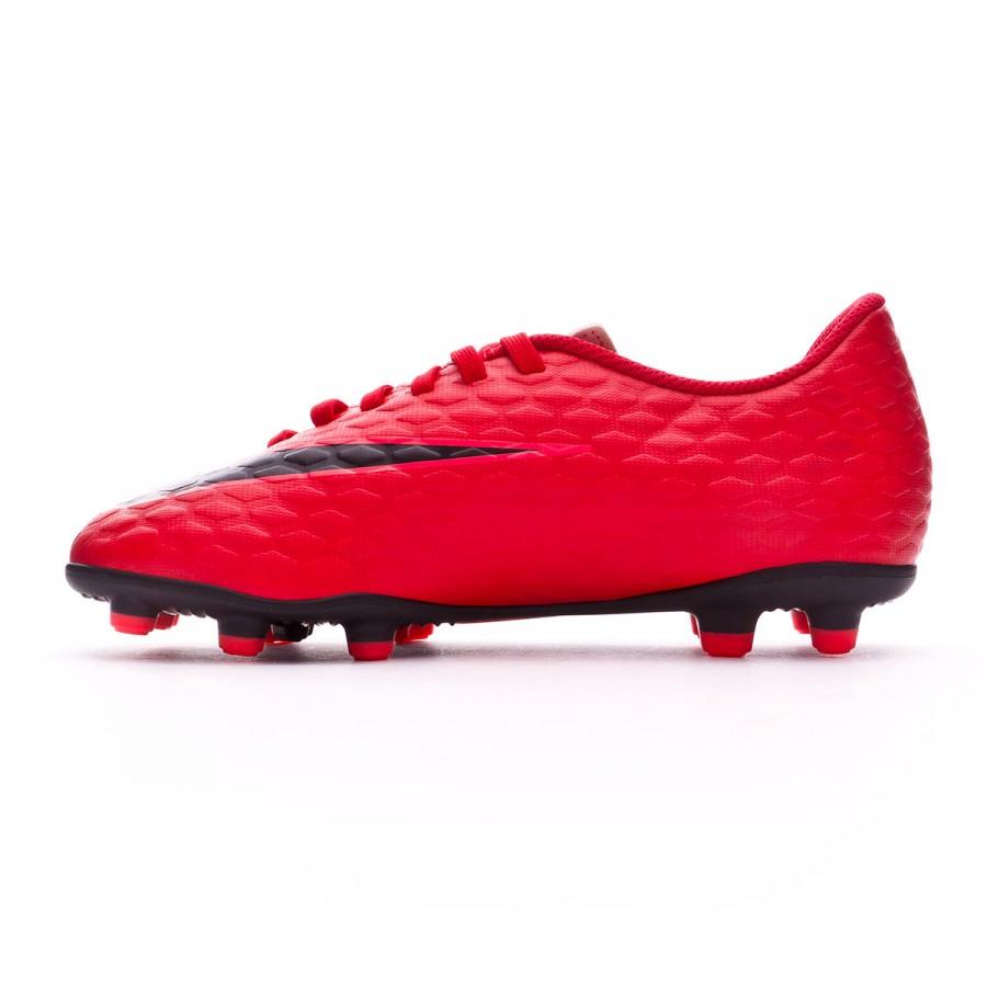 ce2b022a8f5e Boot Nike Kids Hypervenom Phade III FG University red-Black-Bright crimson  - Football store Fútbol Emotion