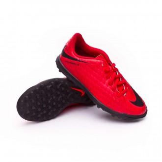 Zapatilla  Nike HypervenomX Phade III Turf Niño University red-Black-Bright crimson