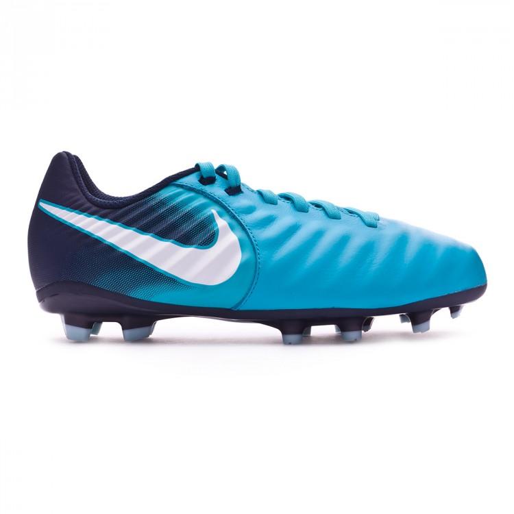 5686c124e386 Chaussure de football Nike Jr Tiempo Ligera IV FG Gamma blue-White ...