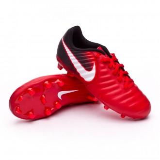 Bota  Nike Tiempo Ligera IV FG Niño University red-White-Black