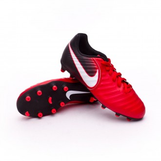 Chuteira  Nike Jr Tiempo Rio IV FG University red-White-Black