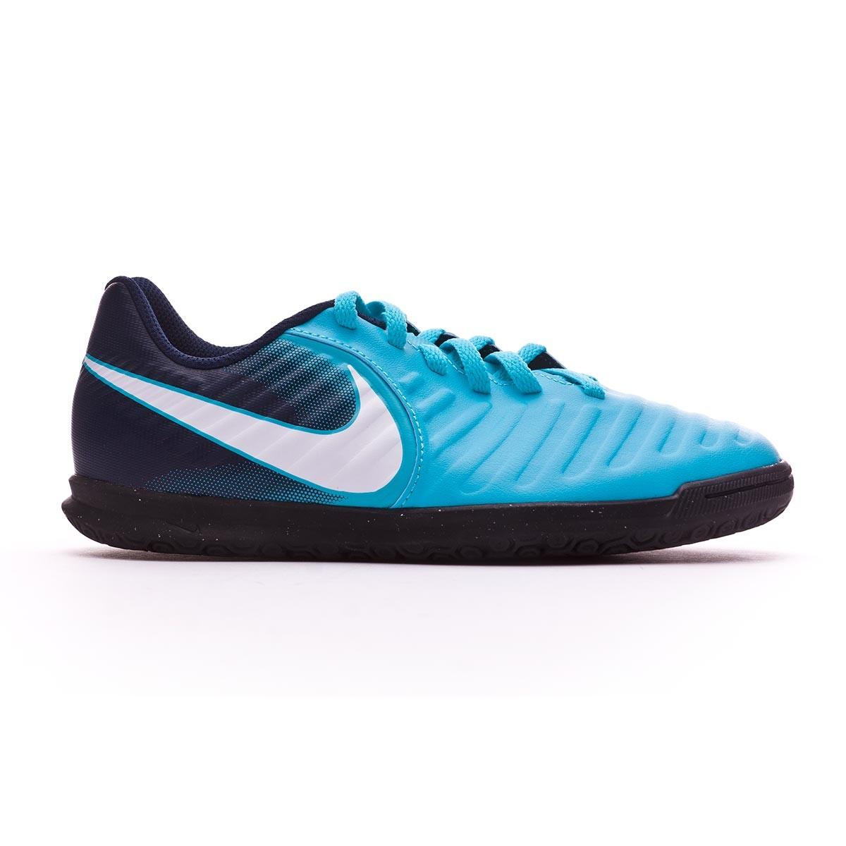 super popular a9164 45739 Chaussure de futsal Nike Jr TiempoX Rio IV IC Gamma  blue-White-Obsidian-Glacier blue - Boutique de football Fútbol Emotion