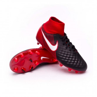 Chuteira  Nike Jr Magista Onda II DF FG Black-White-University red