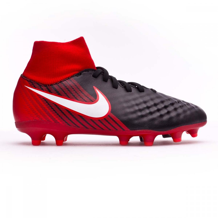 dc90ce6a1e7 Football Boots Nike Magista Onda II DF FG Kids Black-White-University red -  Football store Fútbol Emotion