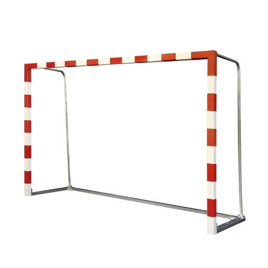 Jim Sports Cage de but de futsal en aluminium transportable 80x80 mm Rouge-Blanc