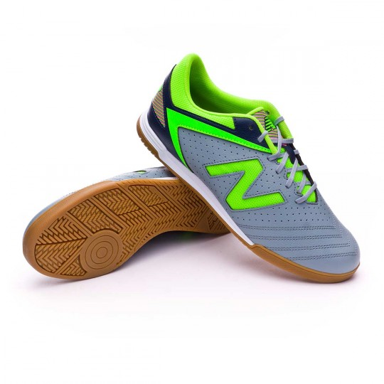 Sapatilha de Futsal  New Balance Audazo Strike 1.0 Futsal Grey-Green