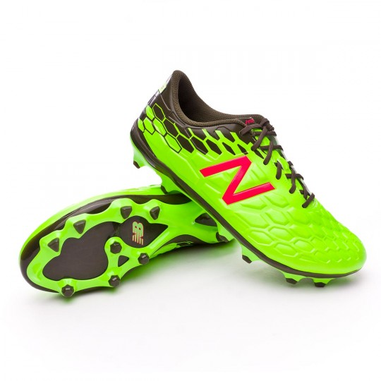 Bota  New Balance Visaro 2.0 Mid Level FG Green-Cherry