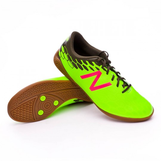 Sapatilha de Futsal  New Balance Visaro 2.0 Control Indoor Green-Cherry