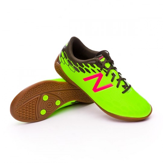 Sapatilha de Futsal  New Balance Jr Visaro 2.0 Control Indoor Green-Cherry