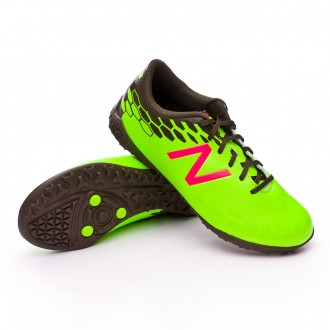 Chaussure  New Balance Jr Visaro 2.0 Control Turf Green-Cherry