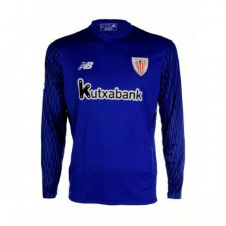 Camiseta  New Balance AC Bilbao Primera Equipación Portero 2017-2018 Azul