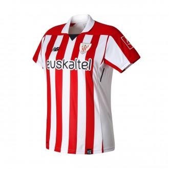 Camiseta  New Balance AC Bilbao MC Primera Equipación Mujer 2017-2018 Blanco-Rojo