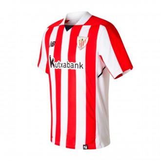 Camiseta  New Balance AC Bilbao MC Primera Equipación 2017-2018 Niño Blanco-Rojo