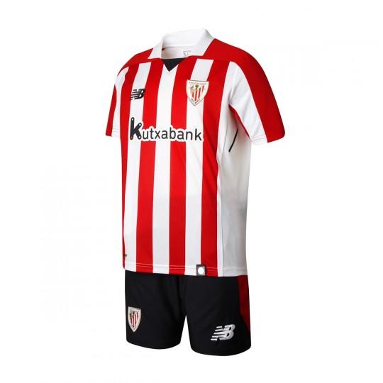 Conjunto  New Balance AC Bilbao Primera Equipación 2017-2018 Niño Blanco-Rojo