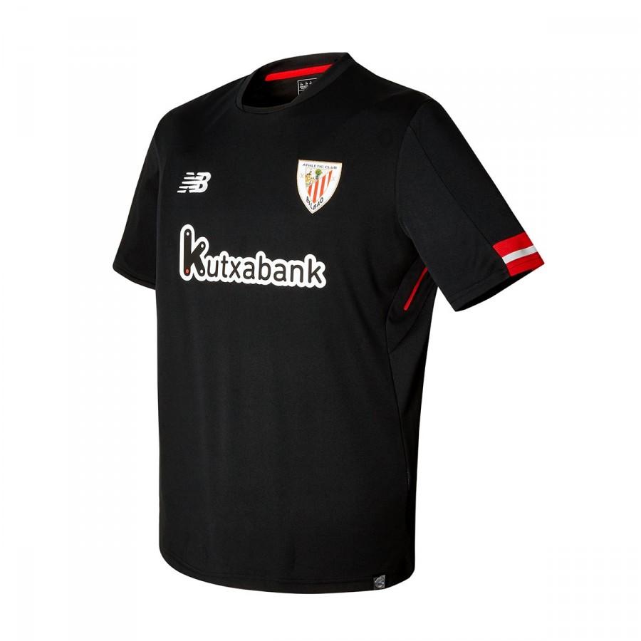 15e4c5e522d3b Camiseta New Balance AC Bilbao MC Segunda Equipación 2017-2018 Black -  Tienda de fútbol Fútbol Emotion