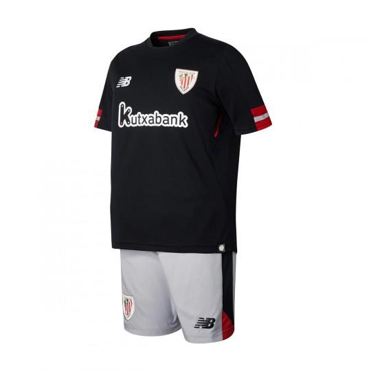 Conjunto  New Balance AC Bilbao Segunda Equipación 2017-2018 Niño Black