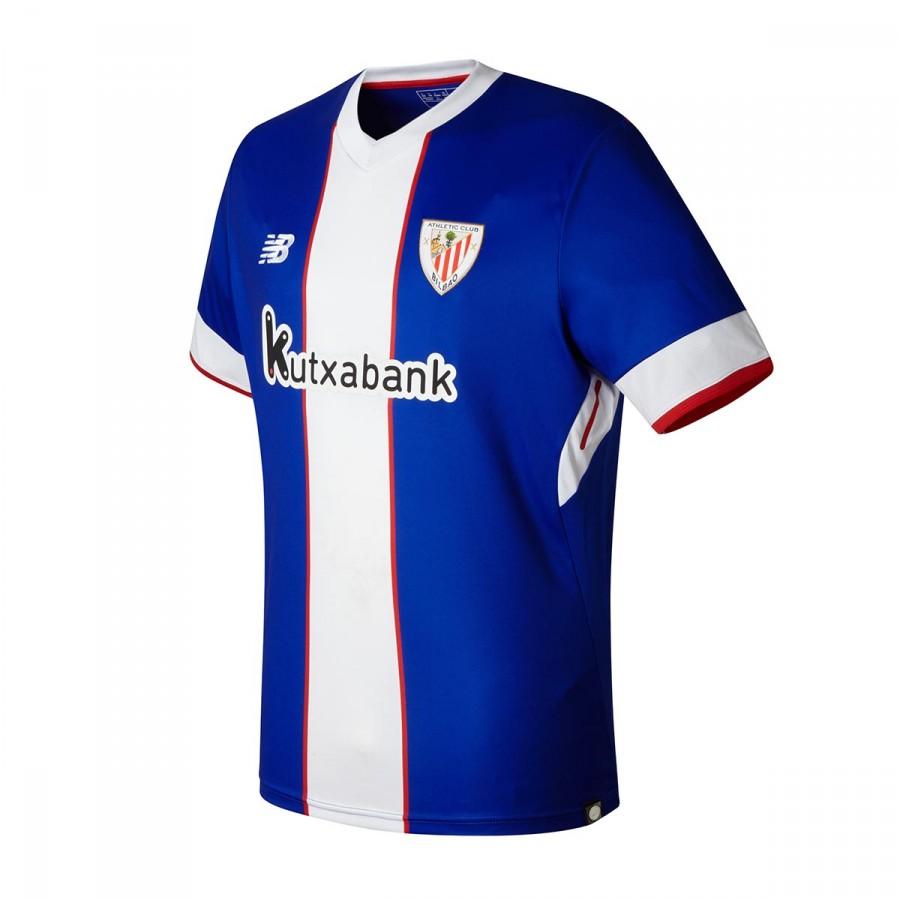 Camiseta New Balance AC Bilbao MC Tercera Equipación 2017-2018 Azul-Blanco  - Tienda de Fútbol. Soloporteros es ahora Fútbol Emotion
