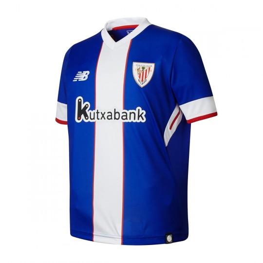 Camiseta  New Balance AC Bilbao MC Tercera Equipación 2017-2018 Niño Azul-Blanco