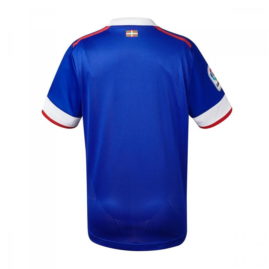 3c2b7faf93cda Camiseta New Balance AC Bilbao MC Tercera Equipación 2017-2018 Niño Azul-Blanco  - Tienda de fútbol Fútbol Emotion