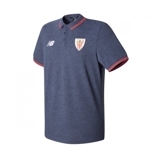 Polo  New Balance AC Bilbao Piqué MC 2017-2018 Navy