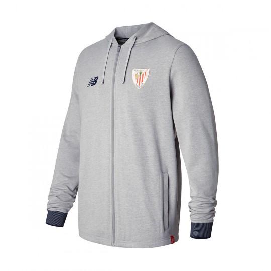 Chaqueta  New Balance AC Bilbao Capucha Felpa 2017-2018 Grey