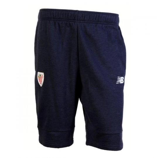 Pantalón corto  New Balance AC Bilbao Paseo Felpa 2017-2018 Niño Azul marino