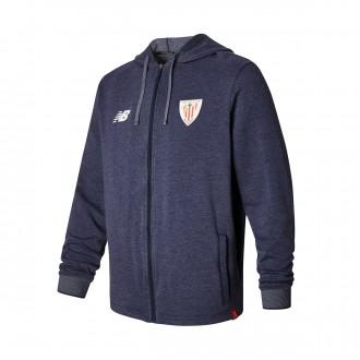 Chaqueta  New Balance AC Bilbao Capucha Felpa 2017-2018 Niño Navy