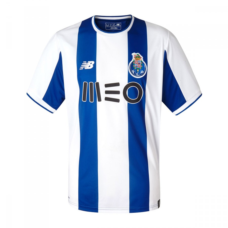 1d9a57bb80021 Camiseta New Balance FC Porto MC Primera Equipación 2017-2018 Blue-White -  Tienda de fútbol Fútbol Emotion