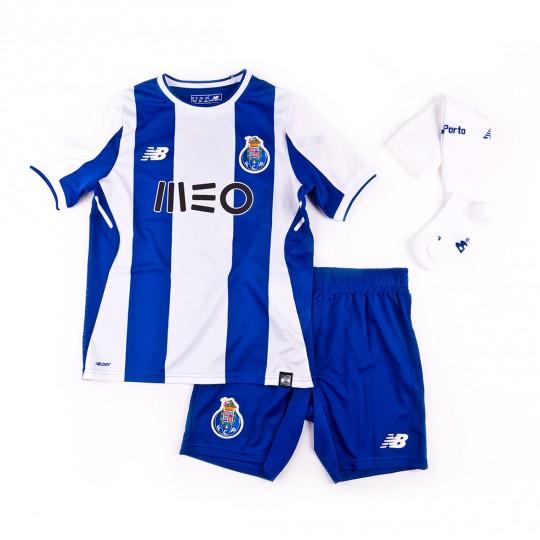 Conjunto  New Balance FC Porto Primera Equipación 2017-2018 Niño Blue-White