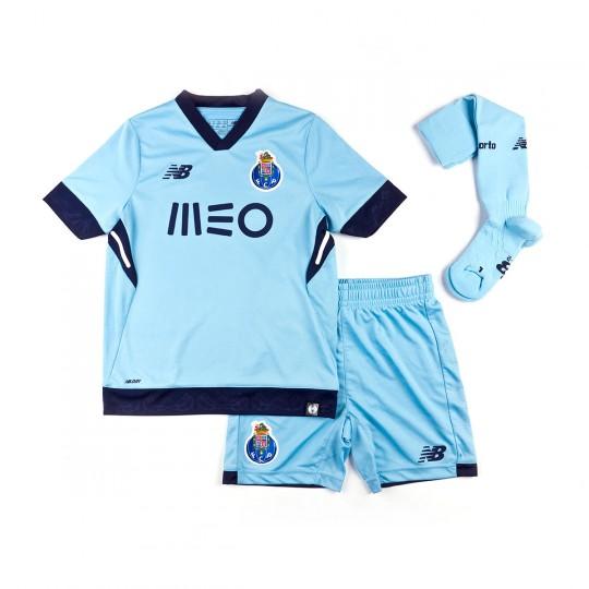 Conjunto  New Balance FCPorto Tercera Equipación 2017-2018 Niño Cyan