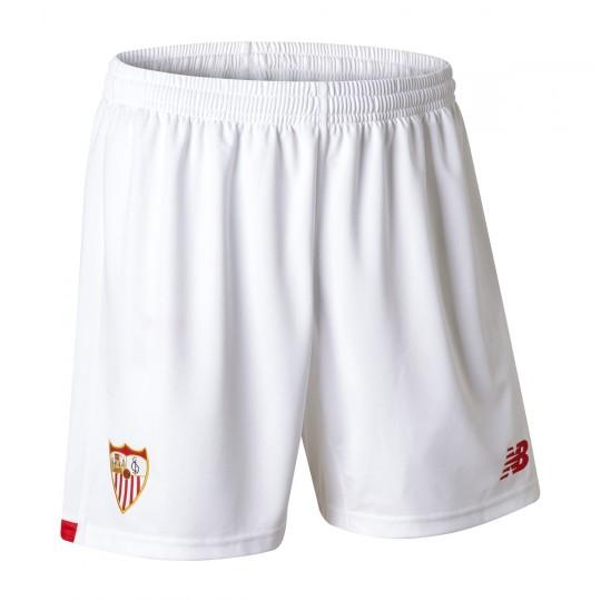 Pantalón corto  New Balance Sevilla FC Primera Equipación 2017-2018 Blanco