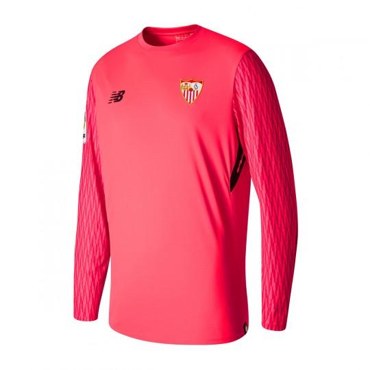 Camiseta  New Balance Sevilla FC ML Primera Equipación Portero 2017-2018 Rosa