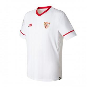 Camisola  New Balance Jr Sevilla FC MC Principal 2017-2018 Branco