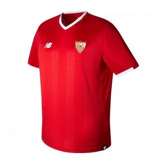 Camisola  New Balance Sevilla FC MC Alternativo 2017-2018 Vermelho