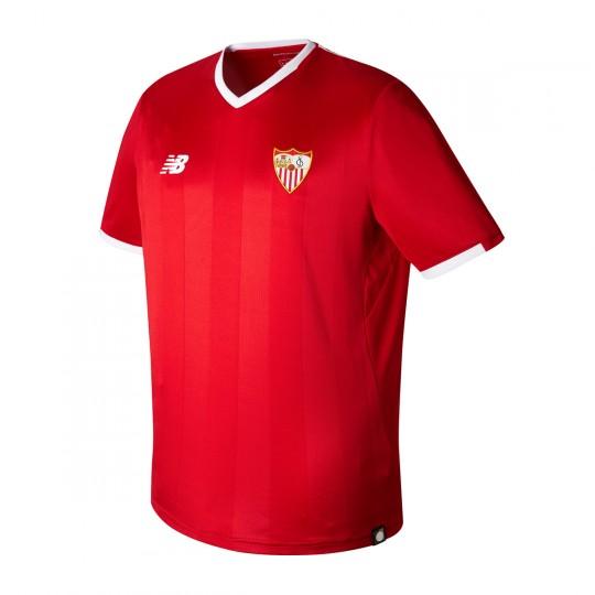 Camiseta  New Balance Sevilla FC MC Segunda Equipación 2017-2018 Rojo