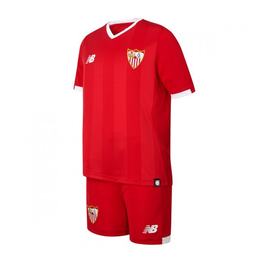 Conjunto  New Balance Sevilla FC Segunda Equipación 2017-2018 Niño Rojo