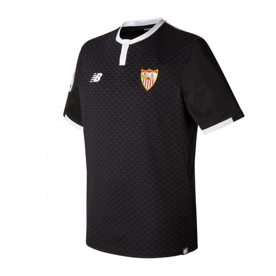 Camiseta  New Balance Sevilla FC MC Tercera Equipación 2017-2018 Negro