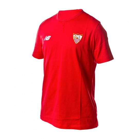 Camiseta  New Balance Sevilla FC MC Algodón 2017-2018 Rojo