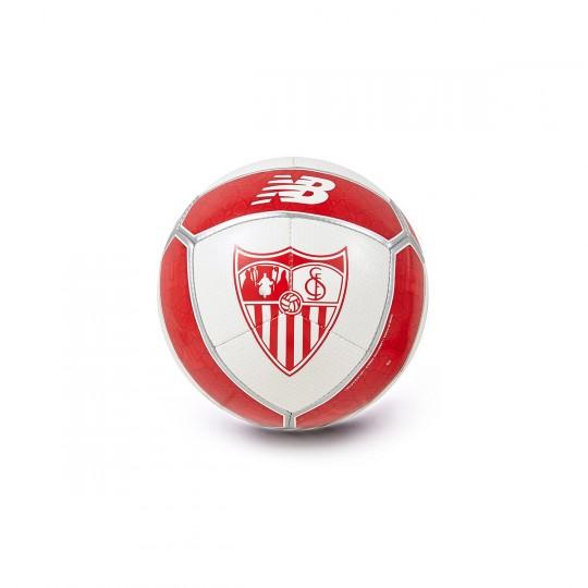 Balón  New Balance Mini Sevilla FC 2017-2018 Blanco-Rojo