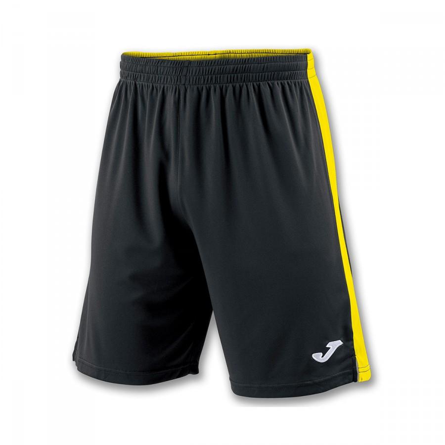 ddc71bb9e7 Pantalón corto Joma Tokio II Negro-Amarillo - Tienda de fútbol Fútbol  Emotion