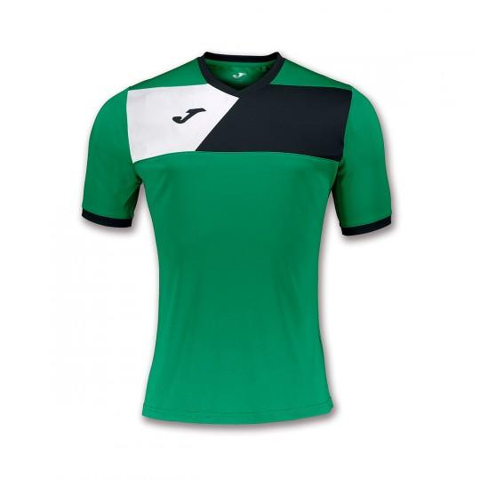 Camiseta  Joma Crew II m/c Verde-Negro-Blanco
