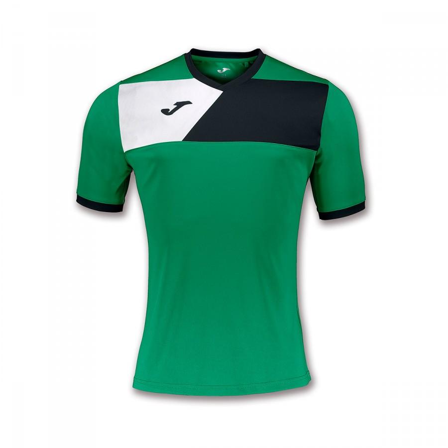 0bf16488c Jersey Joma Crew II ss Green-Black-White - Football store Fútbol Emotion