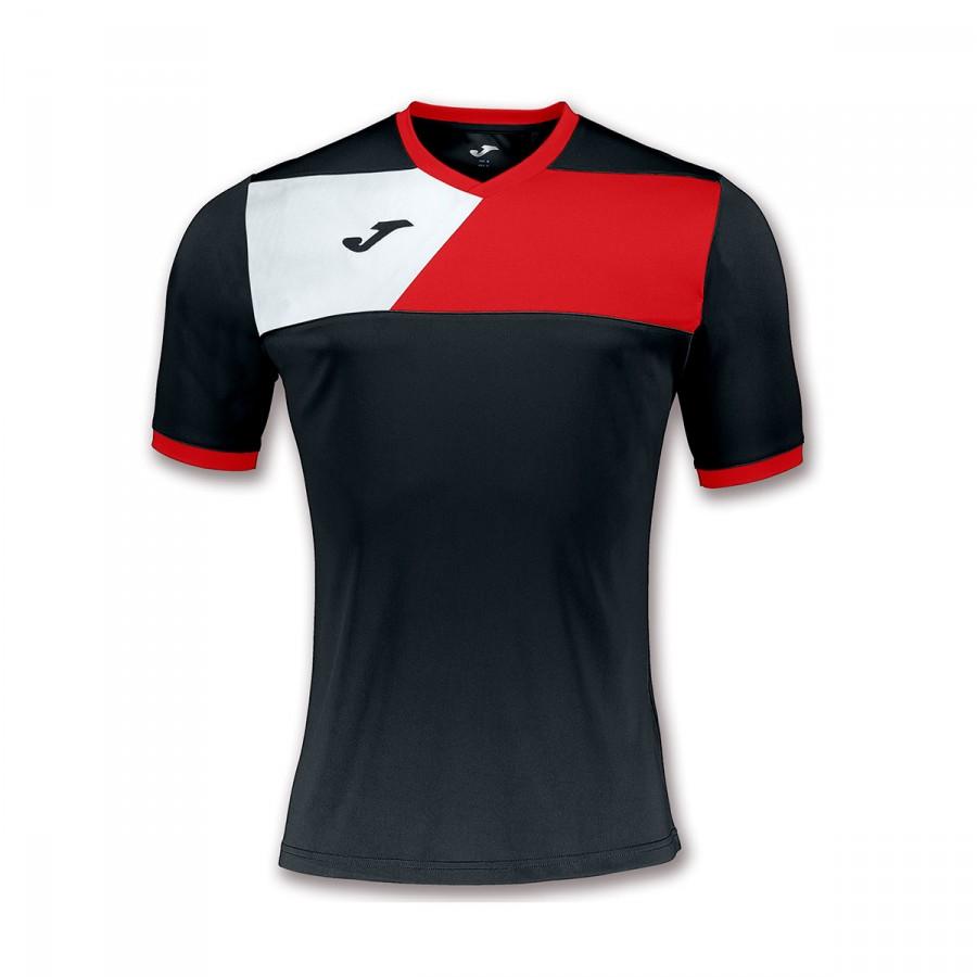 bdc343f8b Camiseta Joma Crew II m c Negro-Rojo-Blanco - Tienda de fútbol Fútbol  Emotion