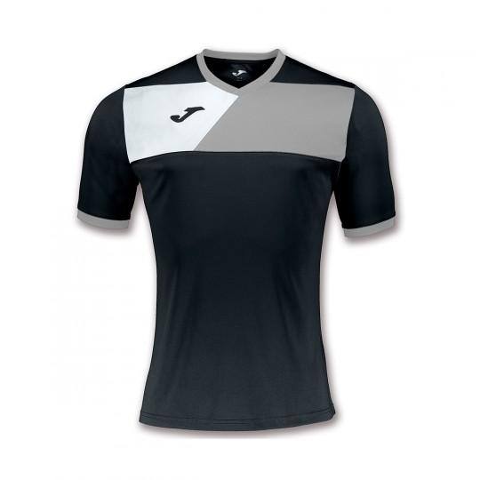 Camiseta  Joma Crew II m/c Negro-Gris-Blanco